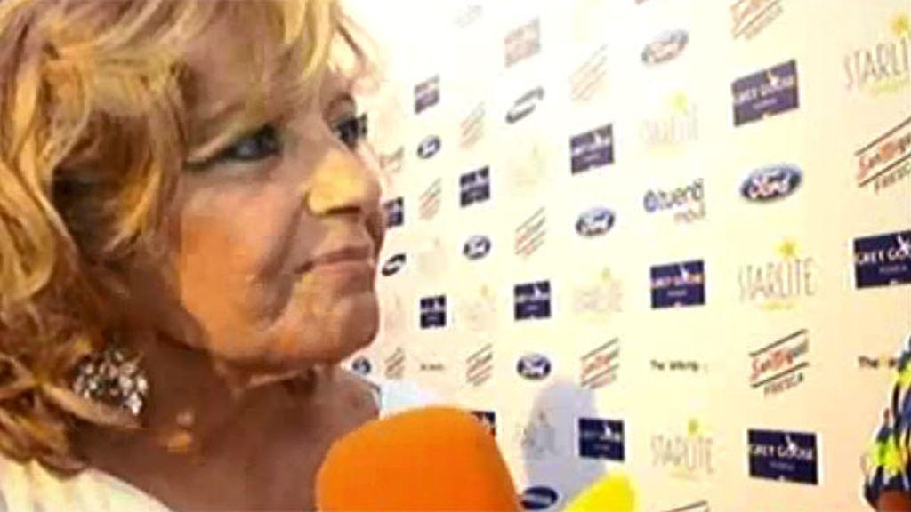 """María Teresa Campos: """"Siempre estoy feliz pero ahora lo estoy especialmente"""""""