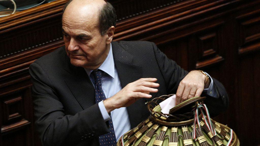 Bersano durante las votaciones para elegir al presidente de la República