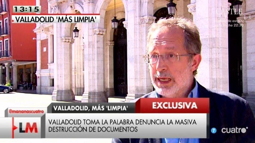 Denuncian una masiva destrucción de documentos del exalcalde de Valladolid