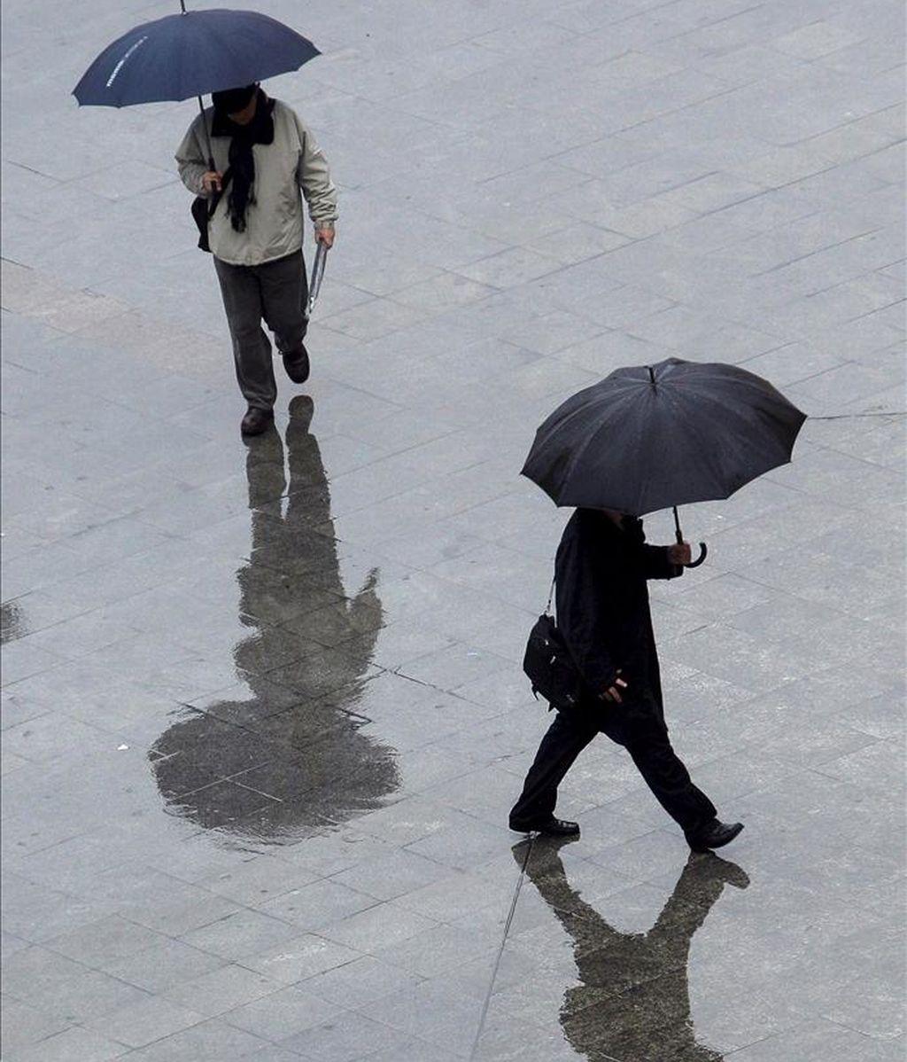 Según un estudio elaborado por la Universidad de Extremadura, la Península Ibérica ha registrado un aumento del número de los días de lluvia desde 1903 hasta 2003. EFE/Archivo
