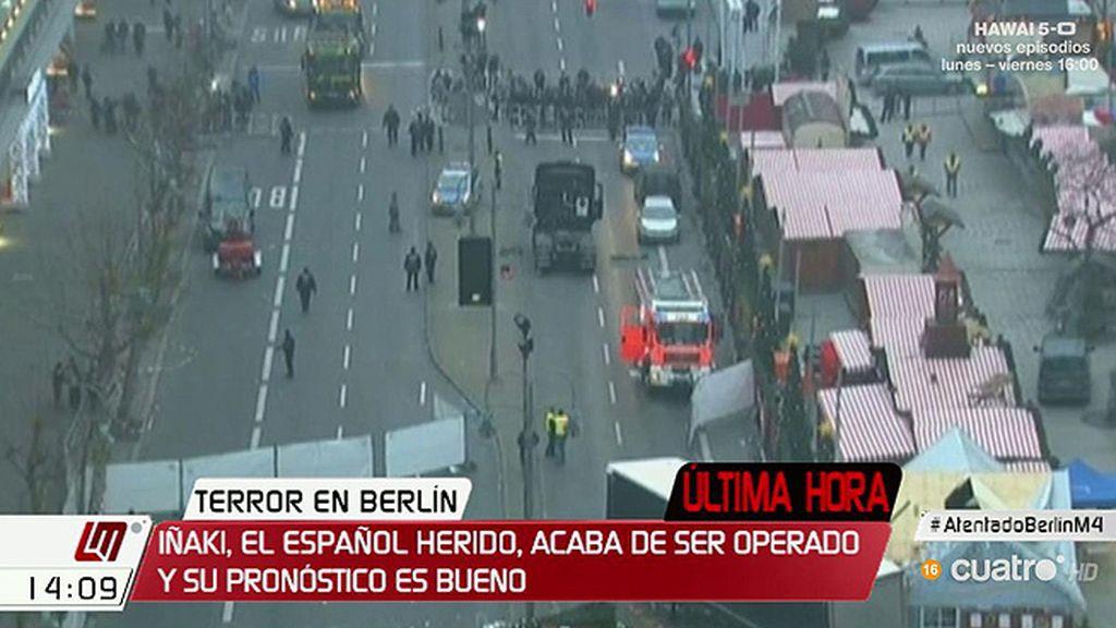 El herido español en Berlín ya ha sido operado y se encuentra bien