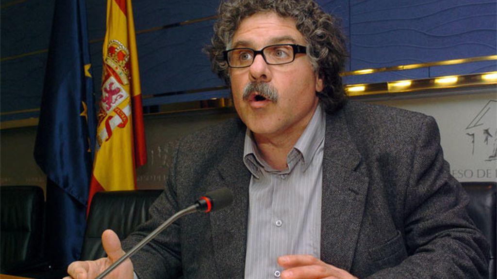 Imagen de archivo de Joan Tardà, portavoz adjunto de ERC en el Congreso en la legisltura recién terminada