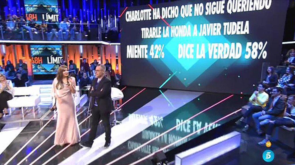 La audiencia considera que Charlotte ya no quiere tirarle la onda a Javier Tudela