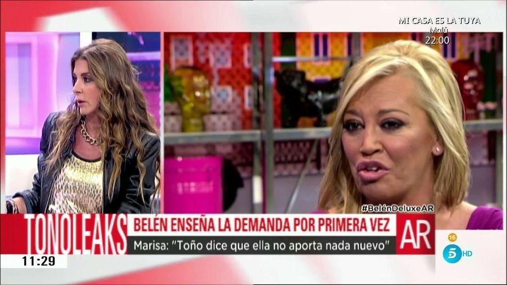"""Marisa: """"Toño dice que la entrevista de Belén no aporta nada nuevo"""""""