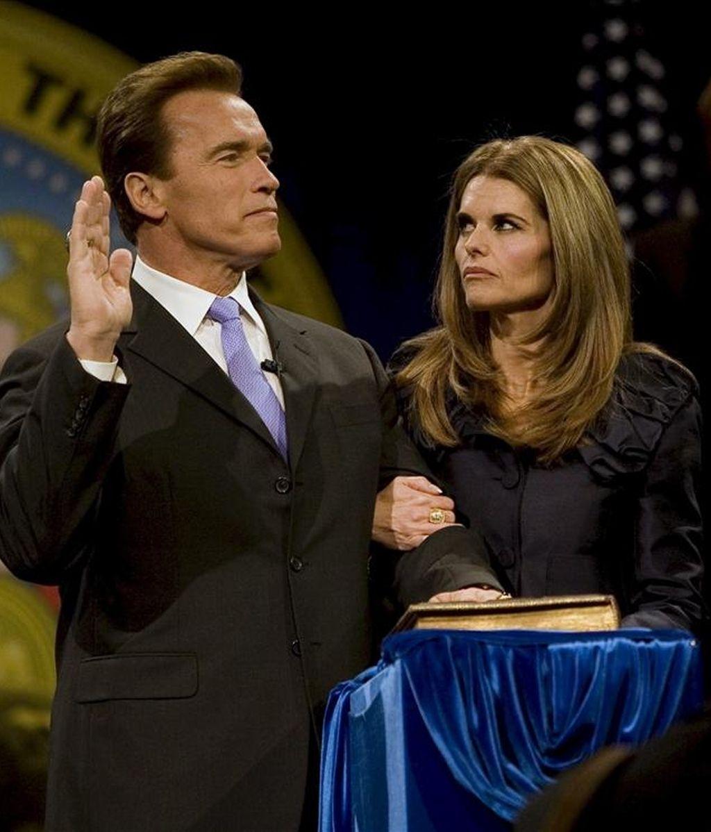 En la imagen, el gobernador de California, Arnold Schwarzenegger (i), junto a su esposa, Maria Shriver. EFE/Archivo