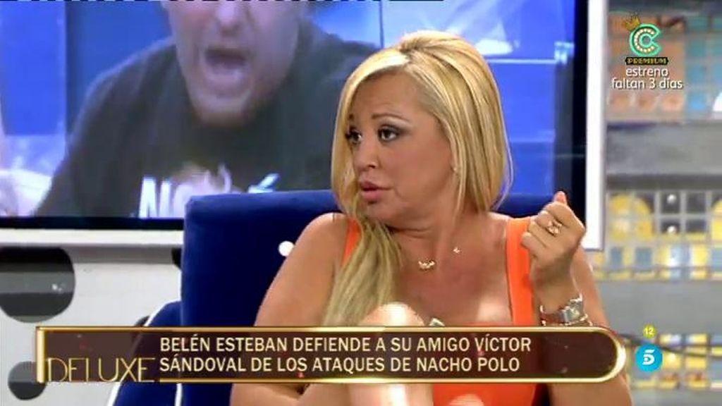 "Belén Esteban: ""Nacho Polo ha vivido toda la vida de Víctor Sandoval"""
