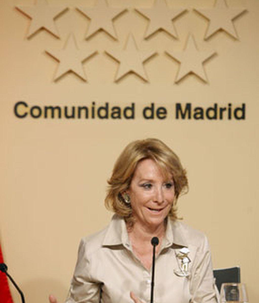 Aguirre, durante su rueda de prensa. Foto: EFE.