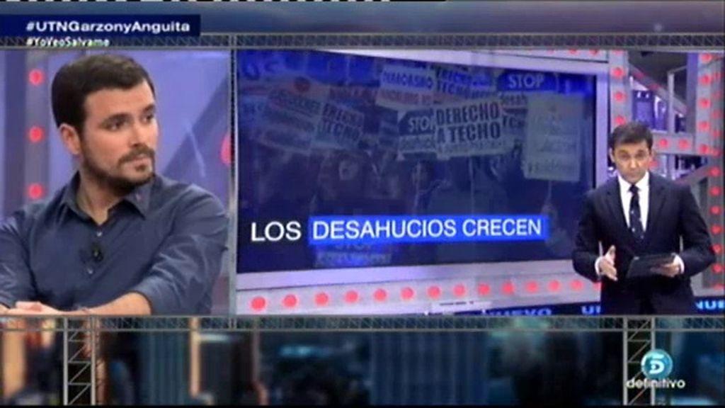 """Alberto Garzón: """"Si tuviésemos un gobierno digno no habría desahucios"""""""