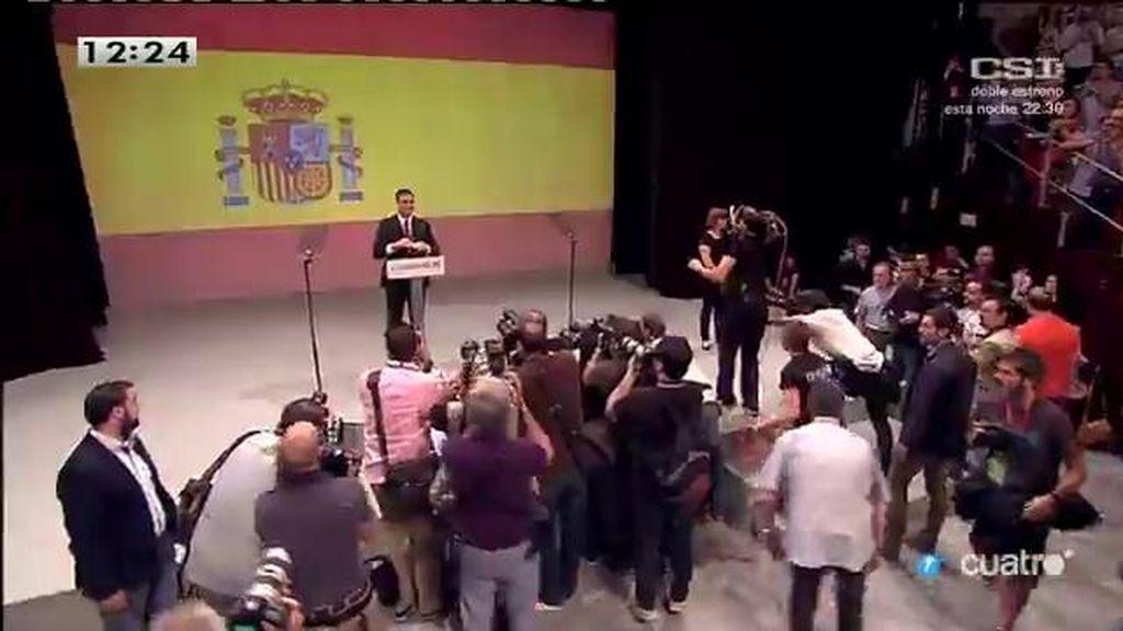 El primer discurso de Pedro Sánchez como candidato a la presidencia del Gobierno