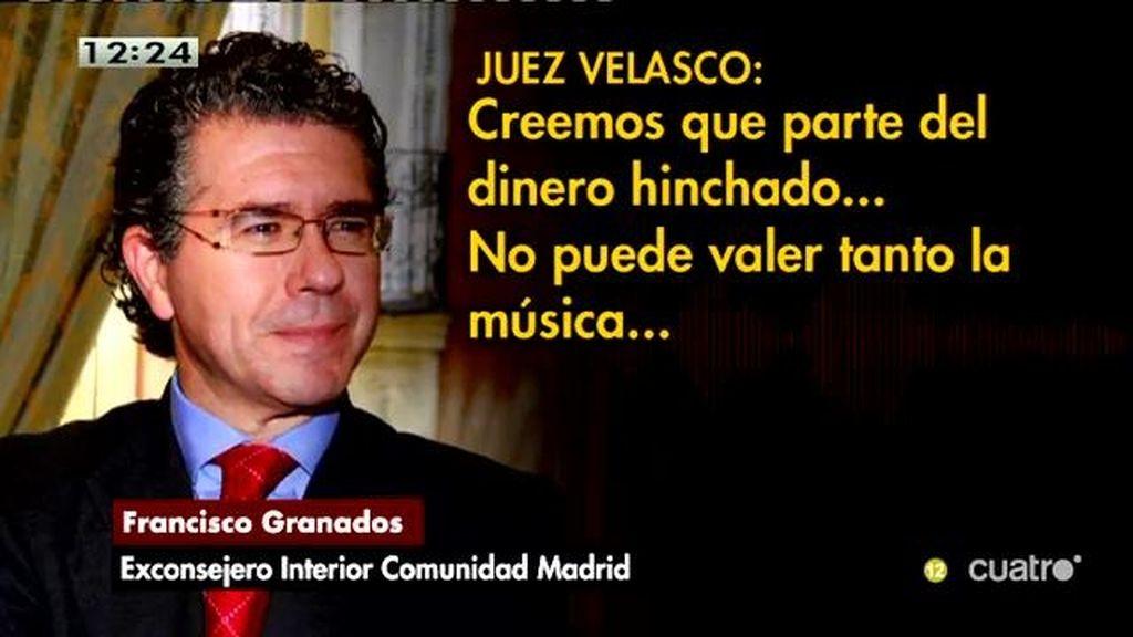 """El juez, a Granados: """"Creemos que el dinero se lo repartían el alcalde, usted y el PP de la Comunidad de Madrid"""""""