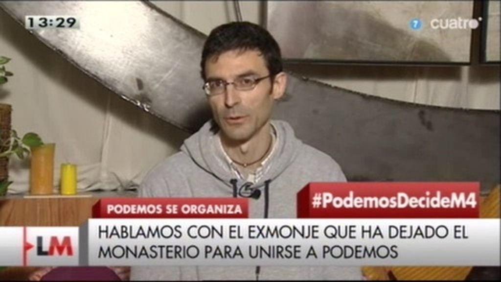 """J. A. Vázquez, exmonje: """"Podemos' forma parte de la misión que quiero realizar"""""""