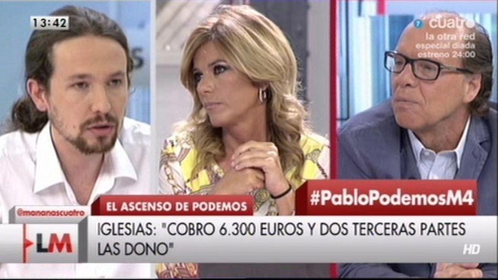 ¿Qué hace Pablo Iglesias con los 6.300 euros que cobra?