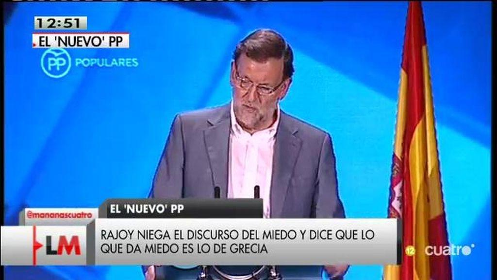 """Mariano Rajoy: """"No sé lo que es el voto del miedo, lo que sí sé es que da miedo lo que está ocurriendo en algún país"""""""
