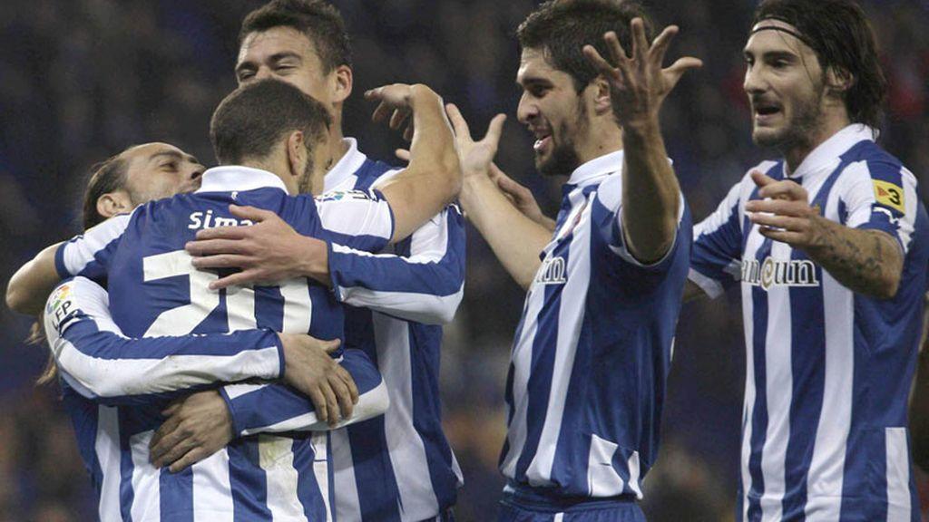 El Espanyol golea al Dépor