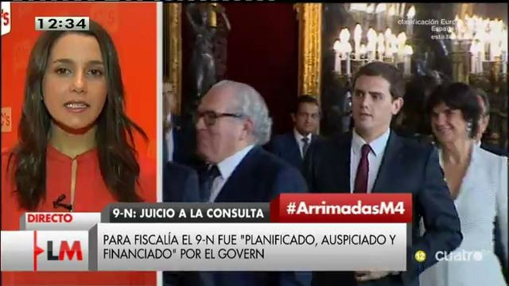 """Arrimadas, sobre Rivera: """"Ha dicho muchas veces que no será  vicepresidente de Rajoy"""""""