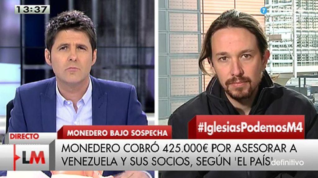 "Pablo Iglesias: ""Los bolsillos de Podemos son transparentes"""