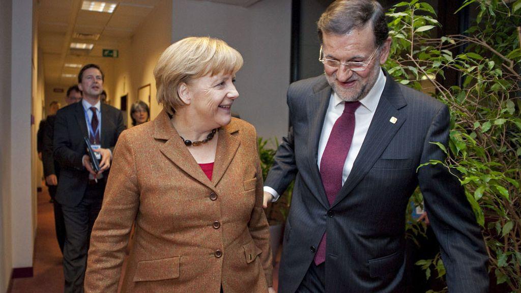 Mariano Rajoy se reúne con Angela Merkel