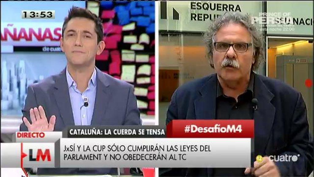"""Joan Tardà: """"No es el debate de la ruptura sino el debate de la afirmación democrática"""""""