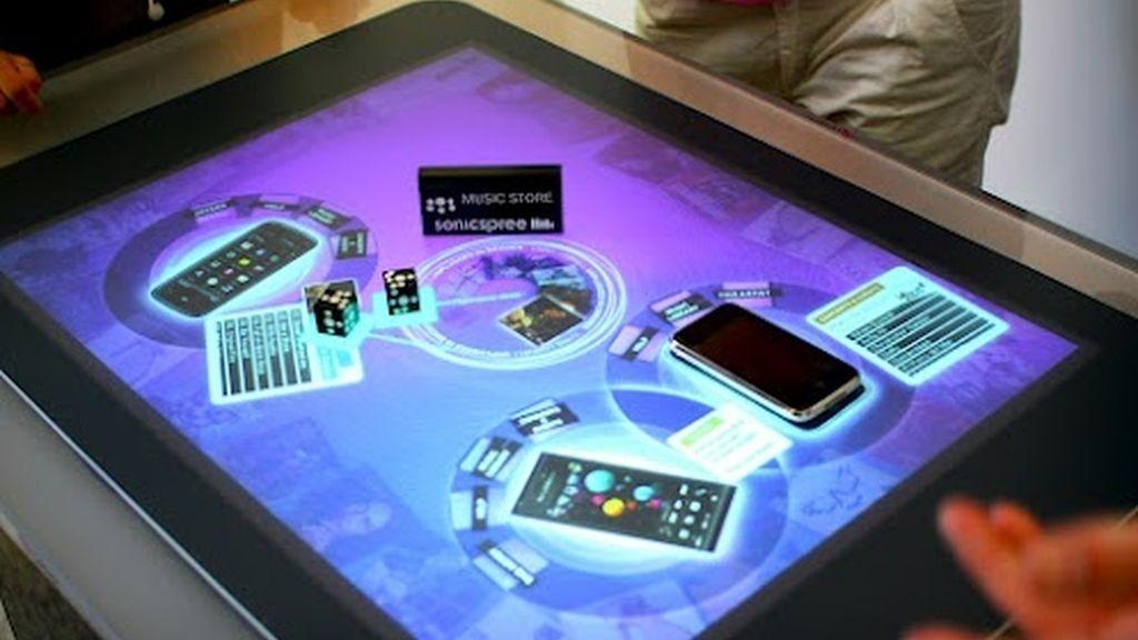 mesa táctil, Microsoft PixelSense, mesas inteligentes,