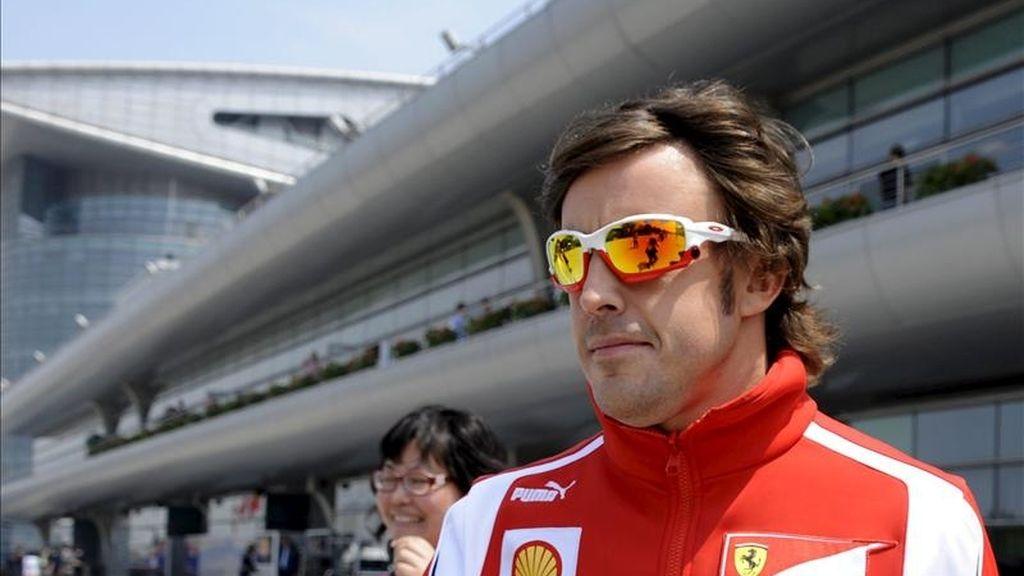 El piloto español de Fórmula Uno Fernando Alonso, de la escudería Ferrari. EFE/Archivo