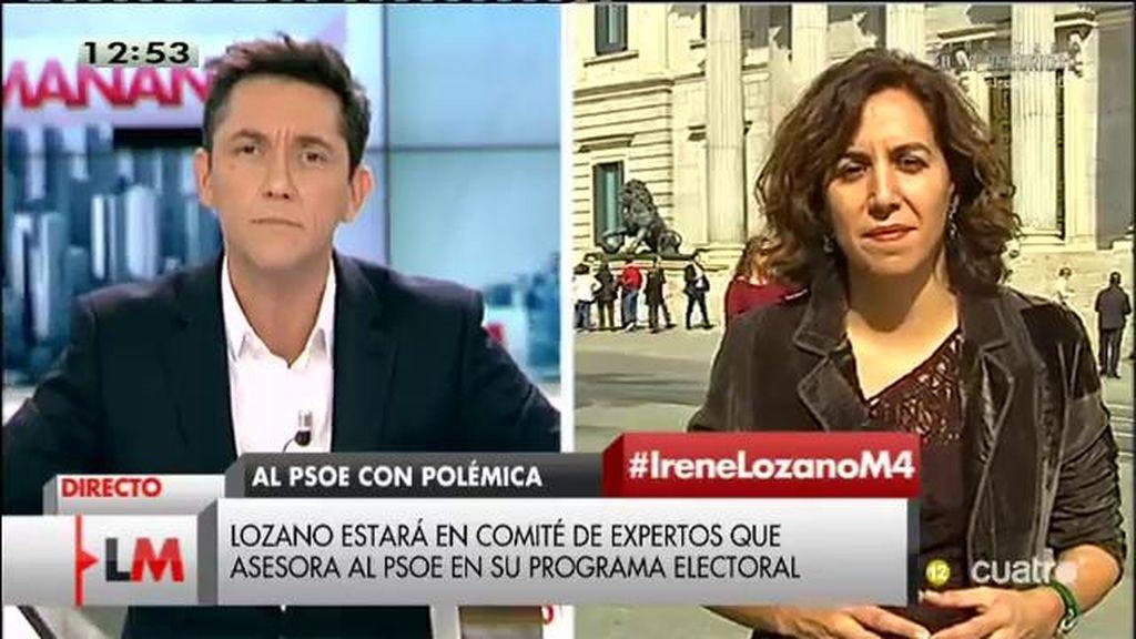 """Irene Lozano: """"Creo que en el PSOE hay voluntad de cambiar y mi incorporación es muestra de ese compromiso"""""""