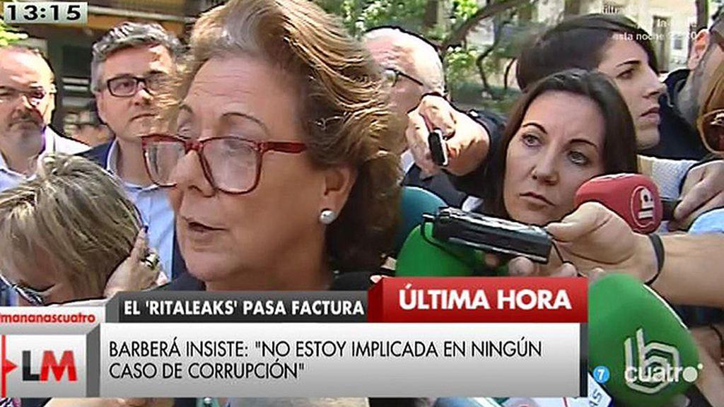 "Rita Barberá: ""Compromís e IU están haciendo auténticas barbaridades"""