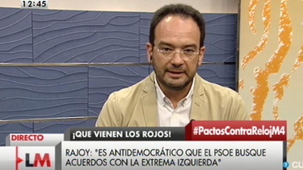 """Antonio Hernando: """"La radical ha sido la política del Partido Popular"""""""