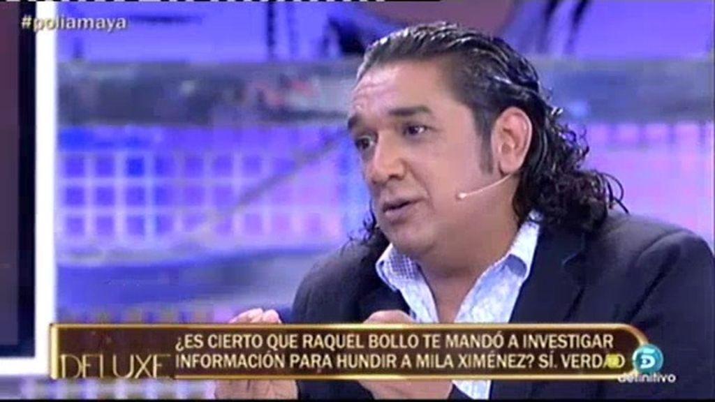 Luis Amaya pide disculpas a Mila Ximénez al afirmar que Raquel Bollo la investigaba