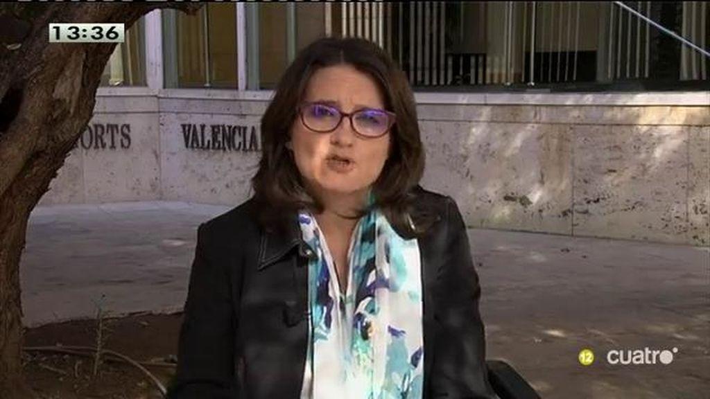 """Mónica Oltra, de Compromís sobre la investigación del 3% : """"Hacer un victimismo por el proceso soberanista es peligroso"""""""