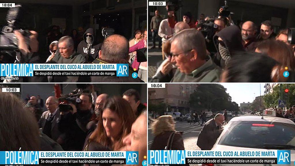 'El Cuco' se despide del abuelo de Marta del Castillo con un corte de manga
