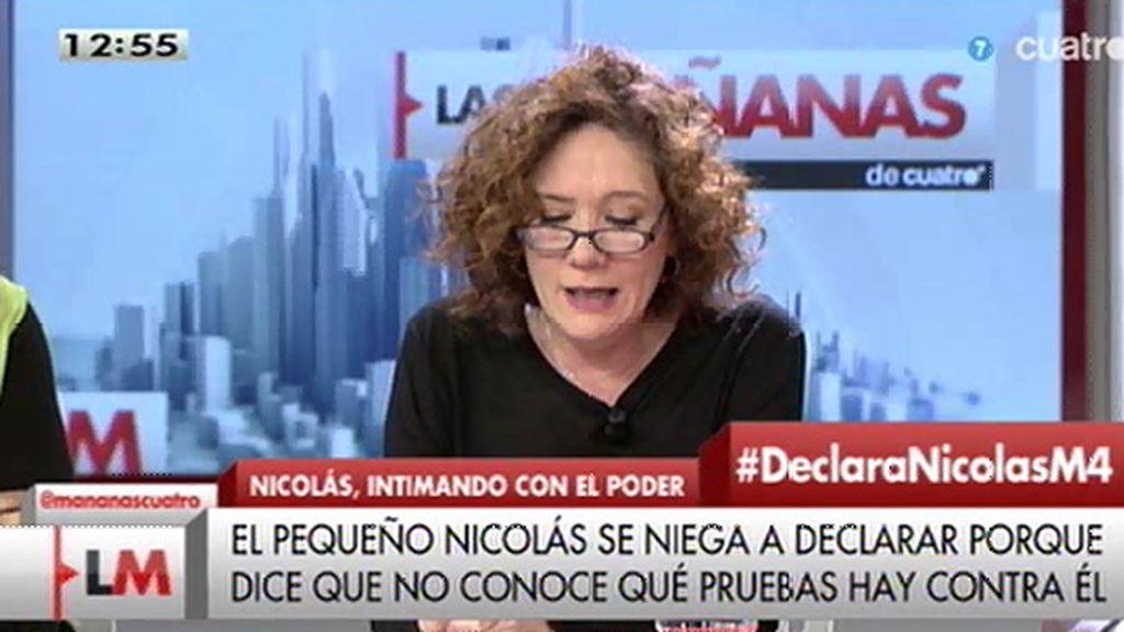 """Cristina Fallarás, a Fco. Nicolás: """"Has acabado de outsider, bienvenido"""""""