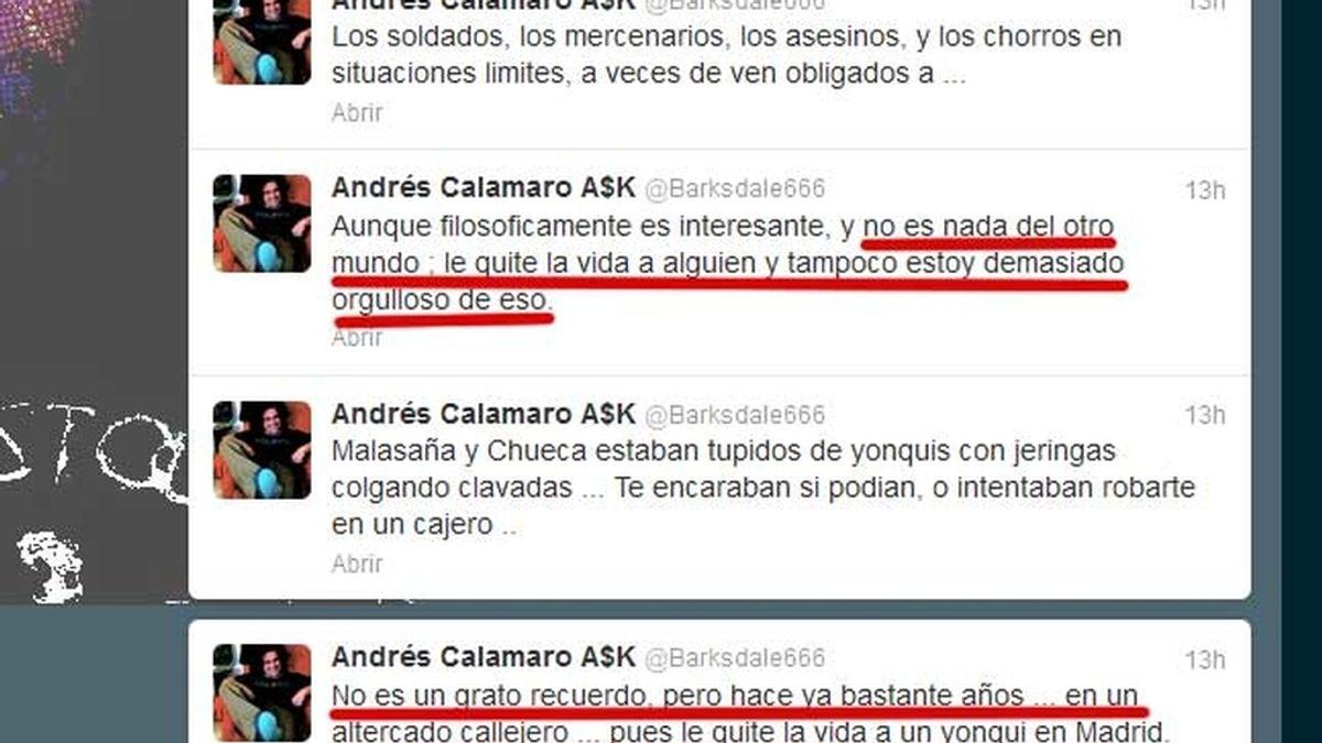 andrés Calamaro, cantante, Twitter