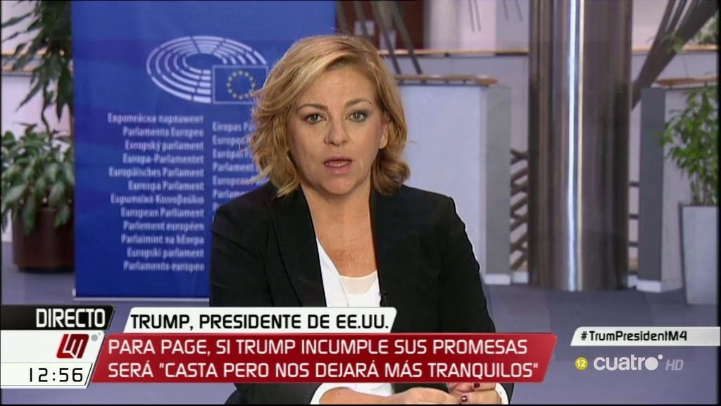 """Elena Valenciano (PSOE): """"Con Donald Trump ha ganado la ira de la gente"""""""