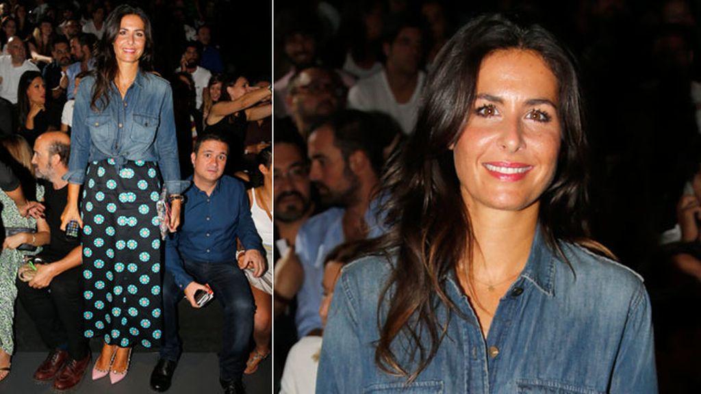Nuria Roca en el desfile de Davidelfin