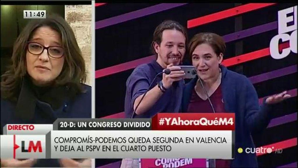 """Mónica Oltra: """"No hay precedentes de una derrota del bipartidismo como ésta"""""""