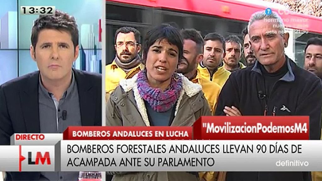 """T. Rodríguez (Podemos): """"La precariedad no está solo en el sector privado sino cada vez más entre los trabajadores públicos"""""""