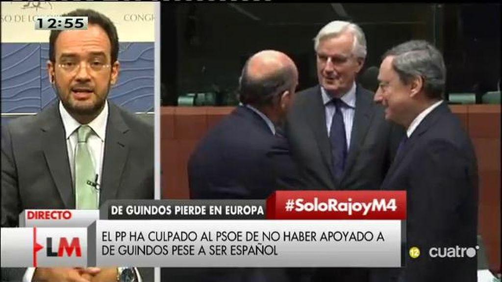 """A. Hernando: """"España no está al frente del Eurogrupo, es un fracaso en el que Rajoy se implicó personalmente"""""""