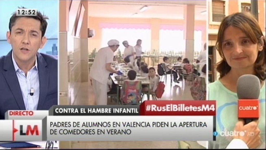 Padres de alumnos de Valencia piden la apertura de comedores en verano