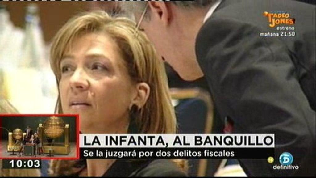 El juez Castro envía a la infanta Cristina a juicio por dos delitos fiscales