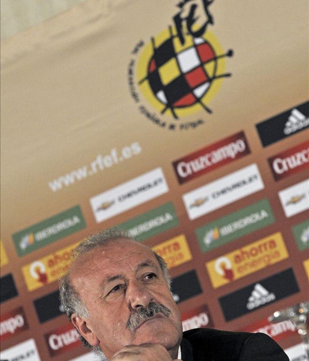 El seleccionador español, Vicente del Bosque. EFE/Archivo