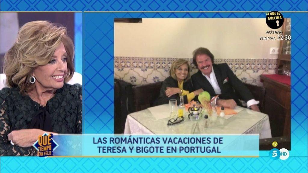 Las románticas vacaciones de Teresa y Bigote: sus fotografías más íntimas