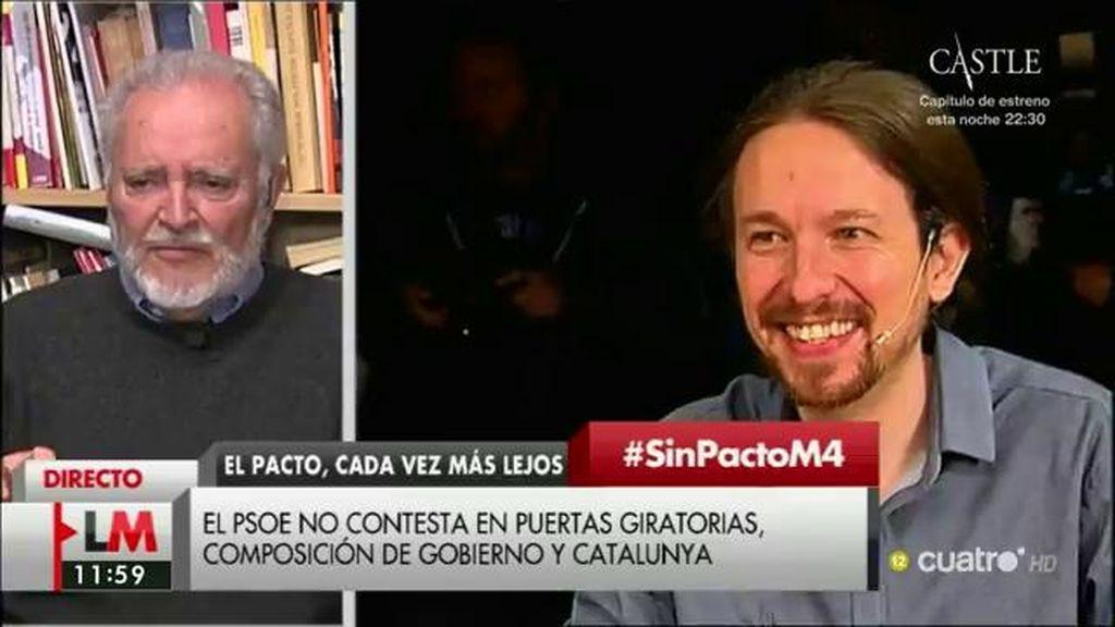 "Julio Anguita: ""La izquierda necesita sentarse para ponerse de acuerdo"""
