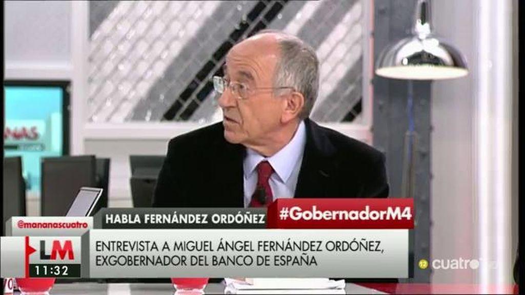 Fernández Ordóñez, exgobernador del Banco de España, critica la gestión de Guindos de la crisis