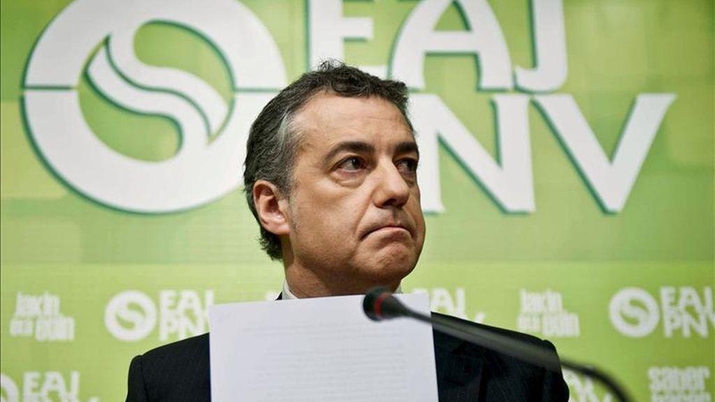 En la imagen, el presidente del PNV, Íñigo Urkullu. EFE/Archivo