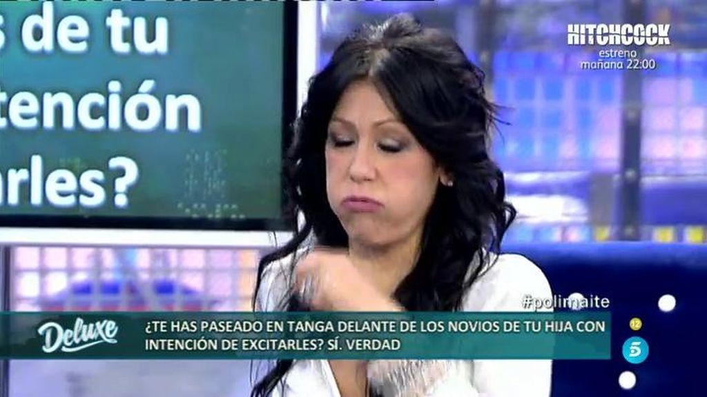 Maite Galdeano se tira un eruco en el Deluxe para callar a Kiko Hernández