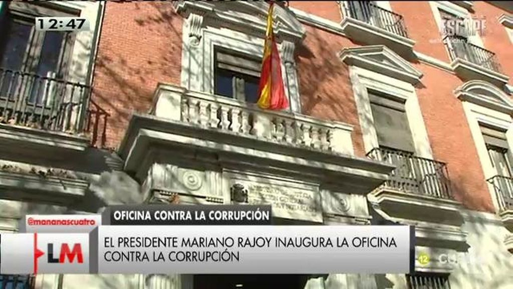 Rajoy inaugura la oficina anticorrupción