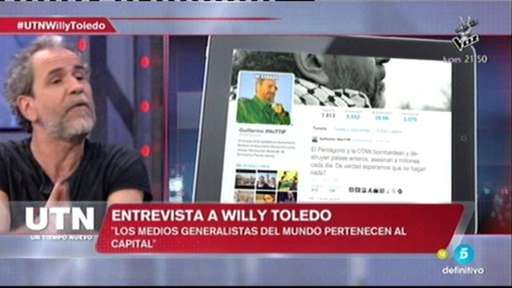 """Willy Toledo, sobre Twitter: """"No entiendo el revuelo, no digo nada que no sea cierto"""""""