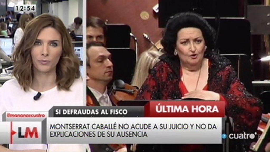 Montserrat Caballé no se presenta en su juicio y no justifica su ausencia