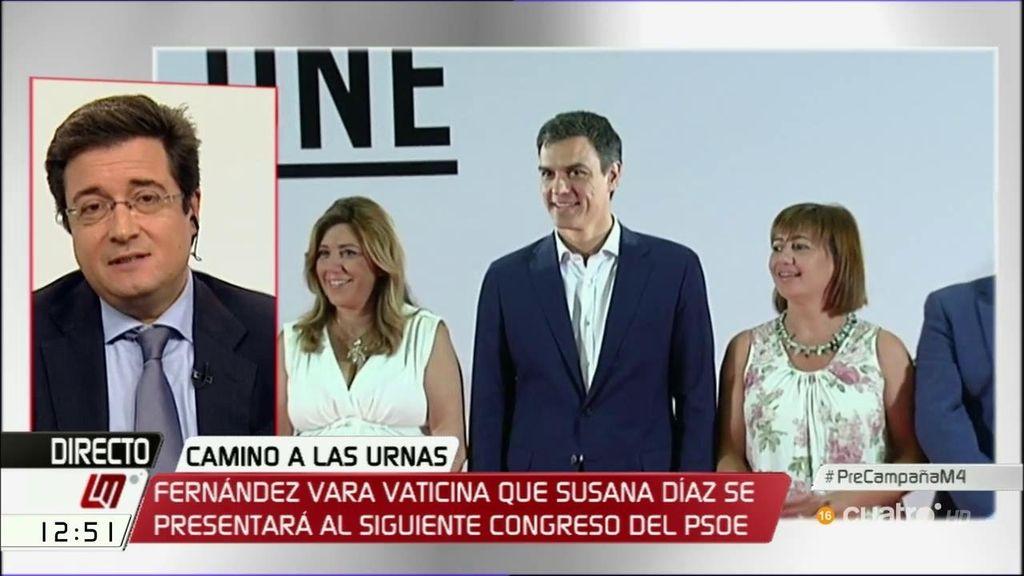 """Óscar López: """"Susana Díaz ha dicho que va a trabajar para que Pedro Sánchez sea presidente y me consta que lo va a hacer"""""""