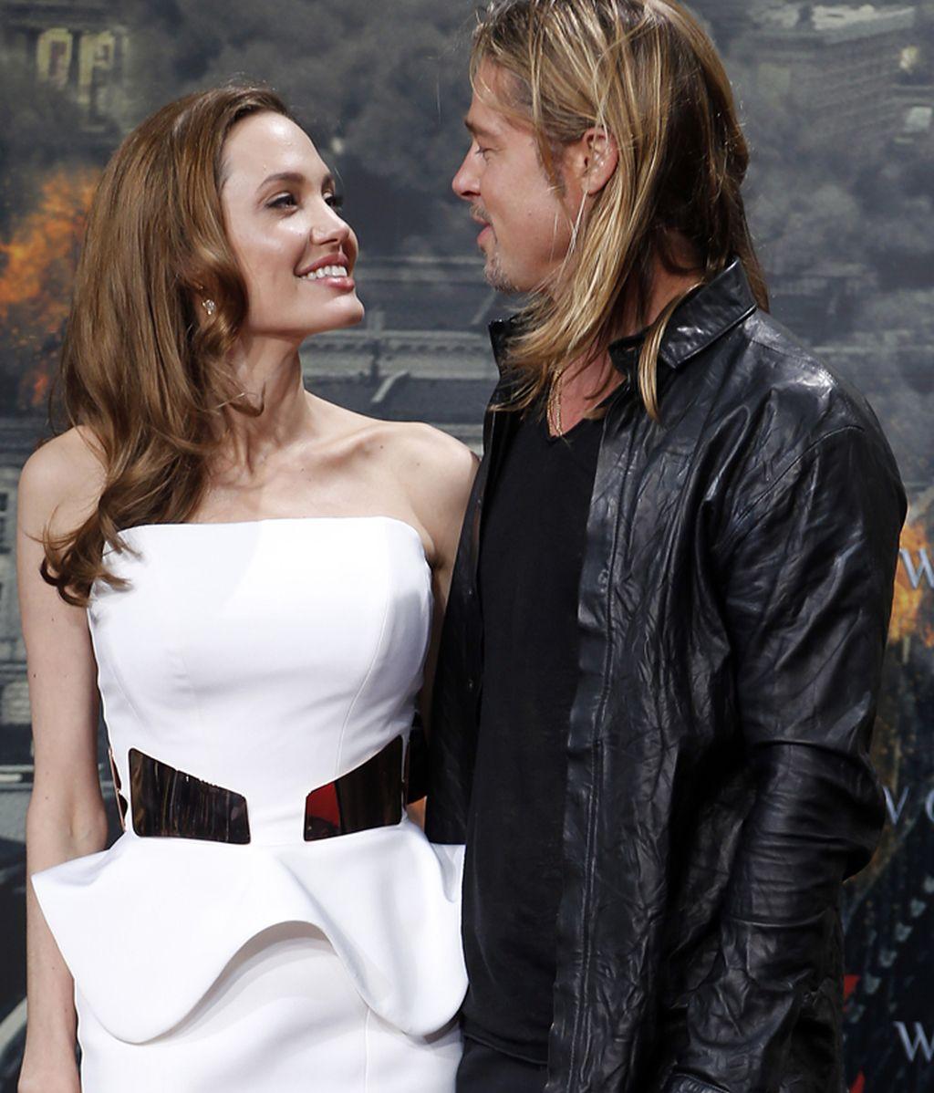 Angelina Jolie y Brand Pitt en el estreno berlinés del apocalipsis zombi